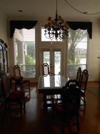 Huge dining room with great dining set