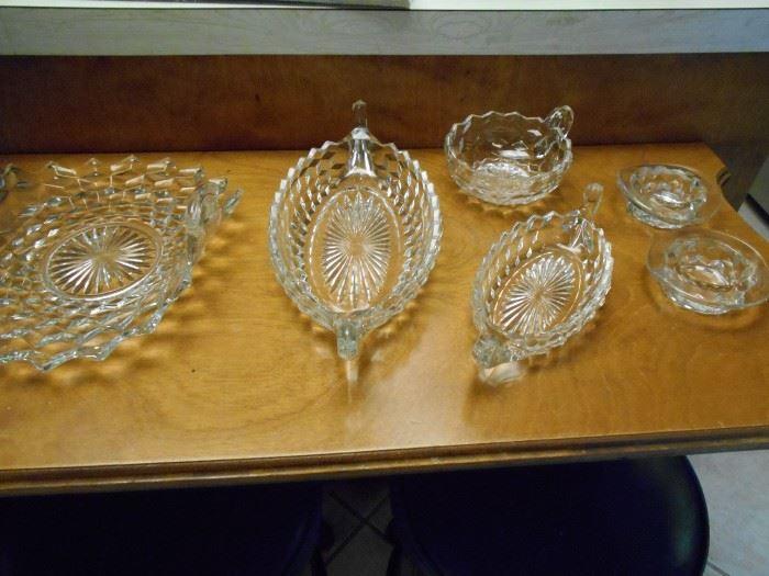 American Fostoria pattern glassware
