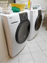 front loading washer and electric dryer