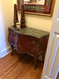 Marble Top Two-Drawer French Commode