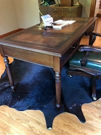 Leather Top Desk (rug not available)