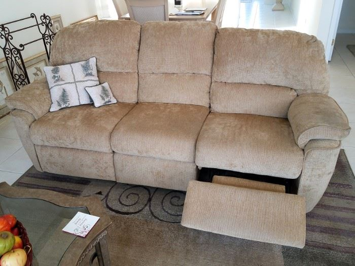 Two matching reclining sofas