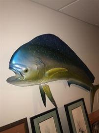 LARGE MAHI MAHI TUNA FISH WALL DECORATION