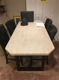 HIGH TOP TABLE AND 4 CHAIRS