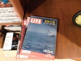 Large Amount of Old Life Magazines
