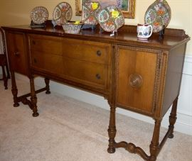 Dining room by Kennard's of St. Louis: table/6 chairs, sideboard, china hutch, buffet