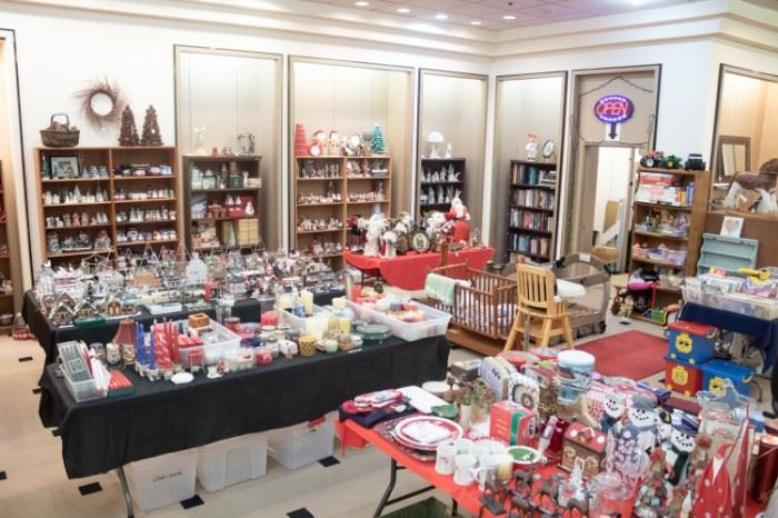LOTS of Christmas!!  One of our clients owned a gift store, so some very nice, NEW items as well.