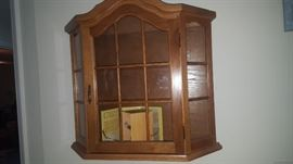 """Wall hanging Curio Cabinet 22  1/4"""" W x 21 T x 6"""" D"""
