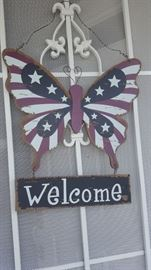 Welcome Sign.  If you love all things Butterflies, you have to see this sale!