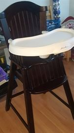 Old Style  Wood High Chair EDDIE BAUER