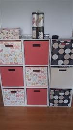 Storage Cabinet with Cloth Bins