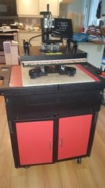 T-Shirt Silk Screen- Heat Press Equipment and Cabinet. May be purchased together or separately