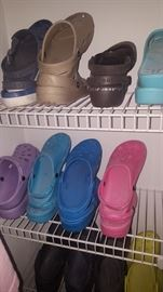 Crocs of all Colors size 9-10