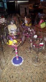 Hand Painted Wine Gleasses