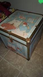Vintage Square Toy Box/Chest