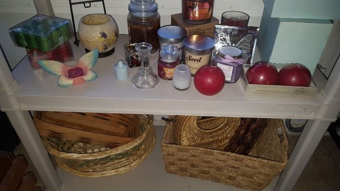 Baskets + Candles