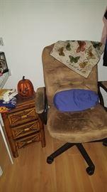 Desk chair, Small Rattan Cabinet