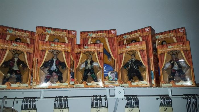 NSync Collectable Dolls, new in the boxes. Two Sizes!