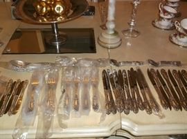 "Towle sterling"" Grand Duchess""....ten place settings with steak knives and butter spreaders"