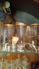 Gold Trim Germany wine cups