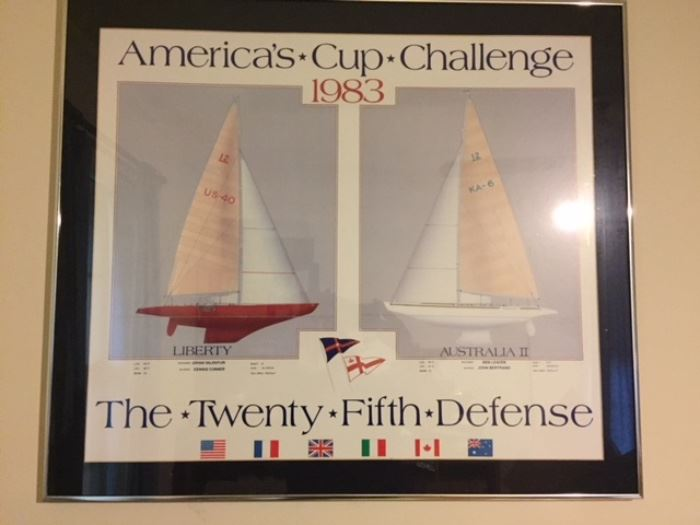 Americas Cup 1983 poster