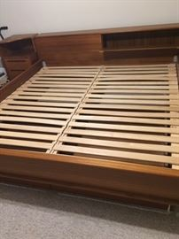 king sized bed with 2 underneath storage drawers