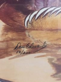 Don Edwards duck print signature