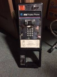 public telephone (we have the cash box front & the receiver)