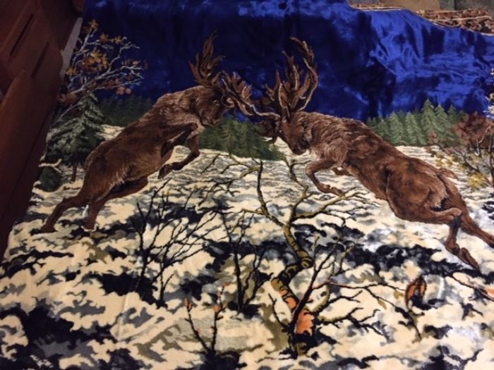 stags tapestry -- center