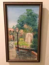 Isabel Lovel New Orleans fountain scene--there is a companion piece as well
