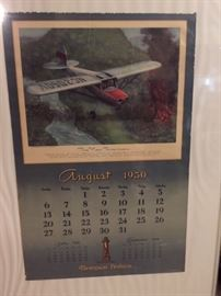 August 1950 calendar page