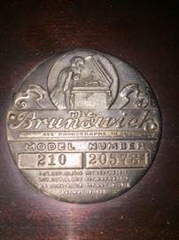 Brunswick phonograph seal