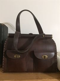 vintage all leather handbag by Francois of California