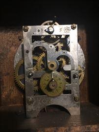 antique clock workings