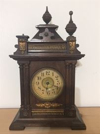 antique clock--we have the missing finial parts & the key