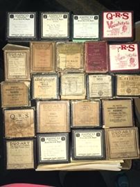 sample of piano rolls (there are 2 boxes full)