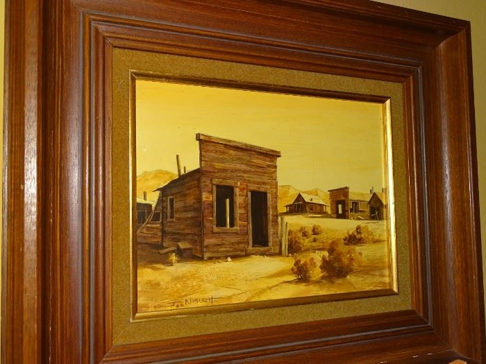 """Gary Niblett """"Western #1"""" original oil painting on artist board.     12""""x9""""     $1,595.00     Contact for purchase or more information"""