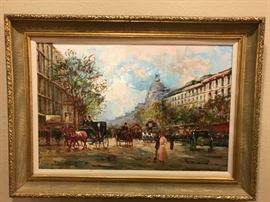 Wow again!! Original Oil on Canvas by French impressionist Jacque  Deveau