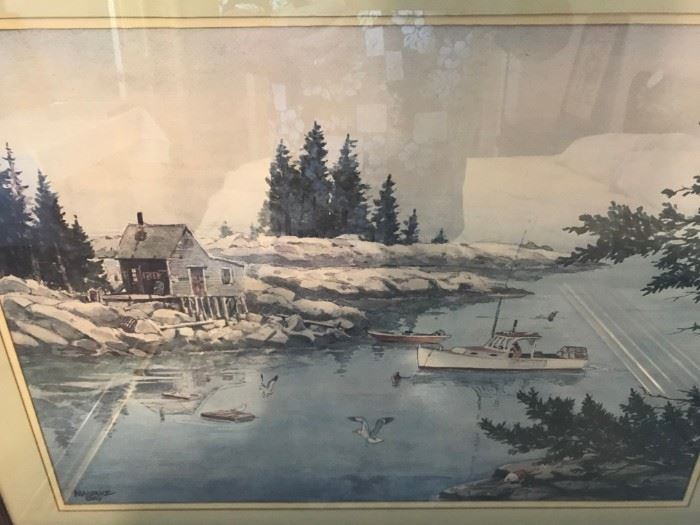 Watercolor by Maine artist Maurice Day