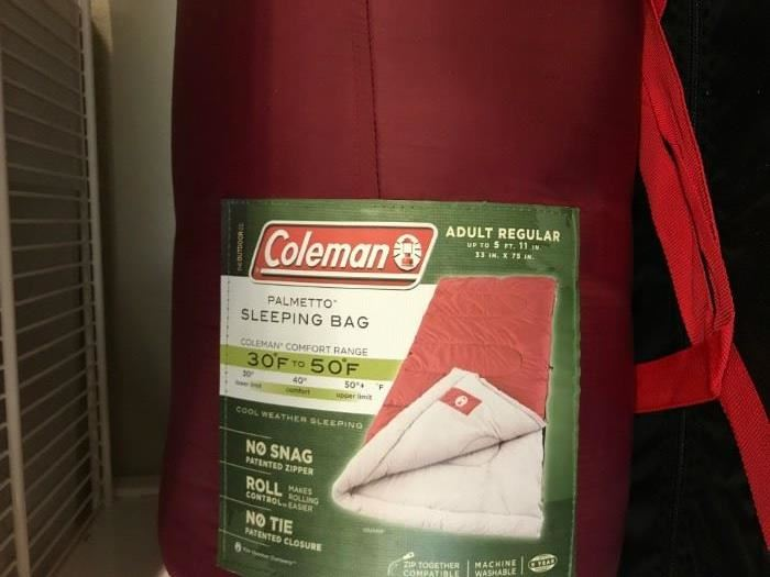 and Coleman Sleeping Bag