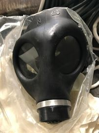 Like New WWII German Gas Mask with  cartridges