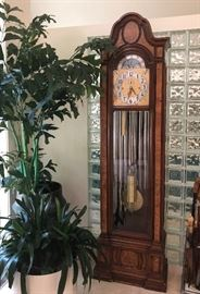 Quality home furnishings including this Herschede Grandfather Clock