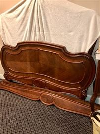 Antique French full size bed with headboard & footboard
