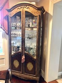 Gold & painted display cabinet