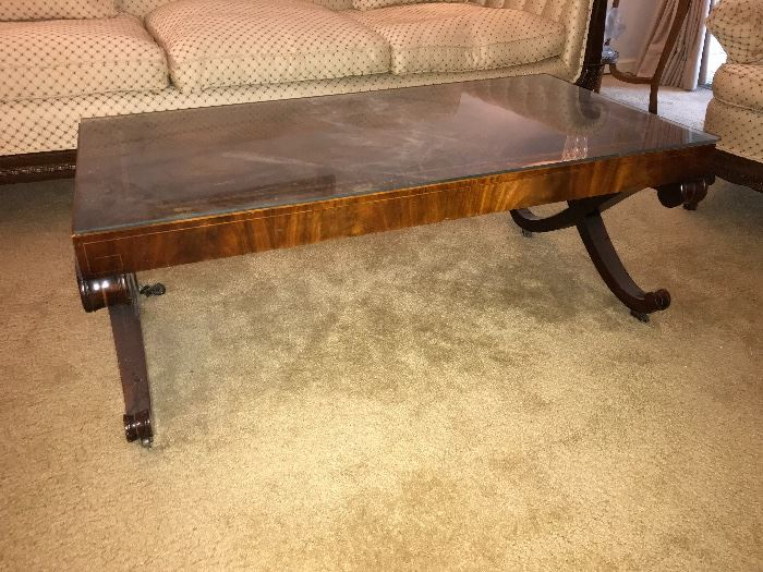 Campaign style Coffee Table; would look beautiful in your home for the holidays