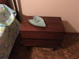 Lane Mid-Century nightstand and ashtray
