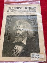 Harpers's Weekly, Saturday, November 21, 1883 Edition cover story of Frederick Douglass