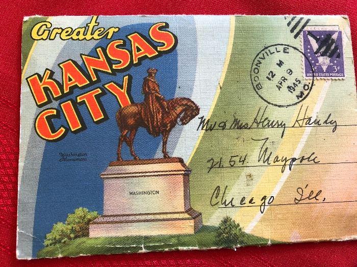 1945 Greater Kansas City Souvenir Post cards