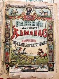 1891 Barkers Illustrated Almanac