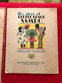 "Historical Literature, Black Americana, ""the Story of Little Black Sambo"" copyright 1931 Springfield Mass"